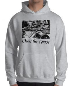 Chart The Course Gildan 18500 Heavy Blend Hooded Sweatshirt Front Mens Sport Grey