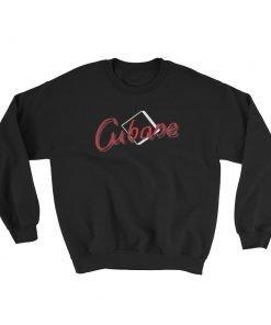 Cubase Gildan 18000 Unisex Heavy Blend Crewneck Sweatshirt Front Flat Black