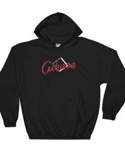 Cubase Gildan 18500 Unisex Heavy Blend Hooded Sweatshirt Front Flat Black