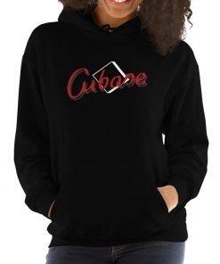 Cubase Gildan 18500 Unisex Heavy Blend Hooded Sweatshirt Front Womens Black