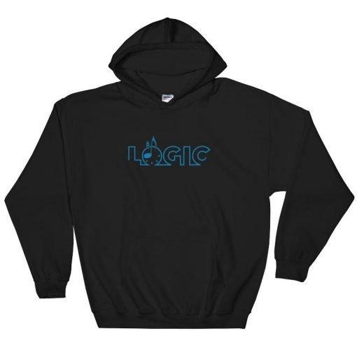 Emagic Logic Gildan 18500 Heavy Blend Hooded Sweatshirt Front Flat Black