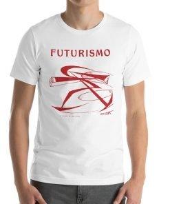 Futurismo Il Pugno di Boccioni Bella+Canvas 3001 Unisex T-Shirt Front Mens White