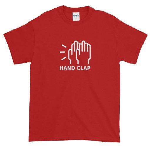 Hand Clap Gildan 2000 Ultra Cotton T-Shirt Front Flat Red