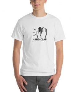 Hand Clap Gildan 2000 Ultra Cotton T-Shirt Front Mens White