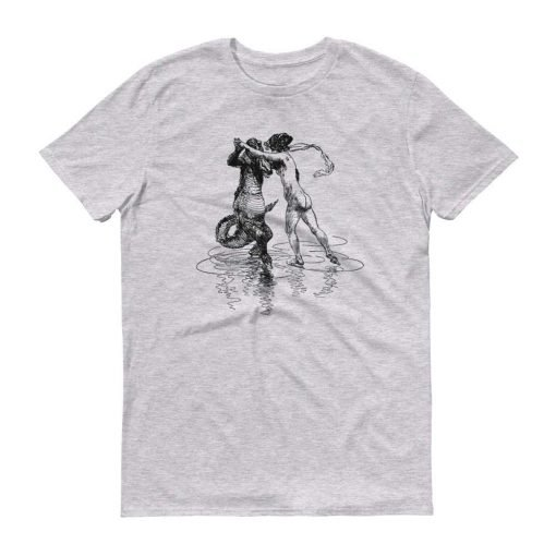 Heinrich Kley Anvil 980 Men T-Shirt Front Flat Heather Grey