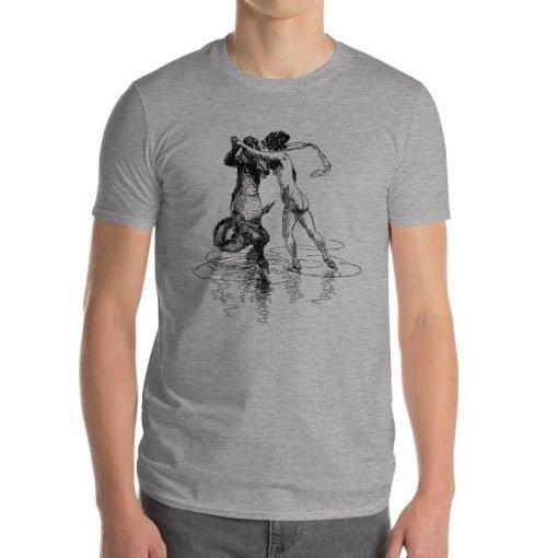Heinrich Kley Anvil 980 Men T-Shirt Front Mens Heather Grey
