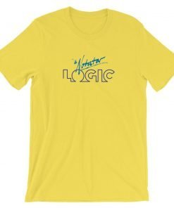 Notator Logic Bella Canvas 3001 Unisex T-Shirt Front Wrinkled Yellow