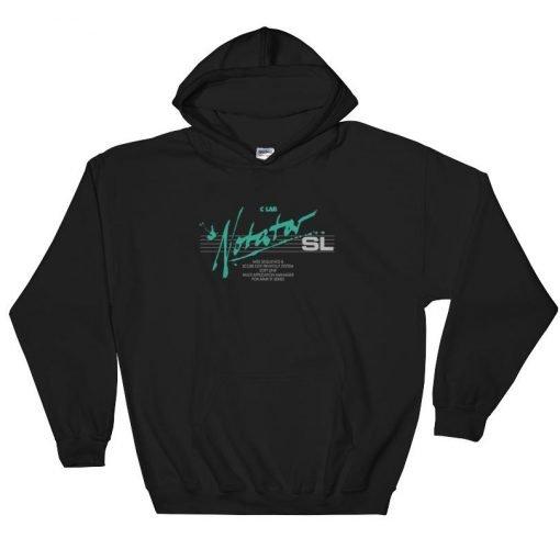 Notator SL Gildan 18500 Heavy Blend Hooded Sweatshirt Front Flat Black