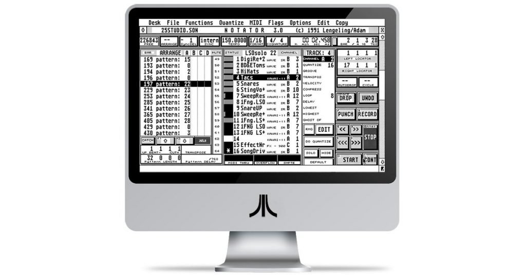 Notator SL running on iMac.